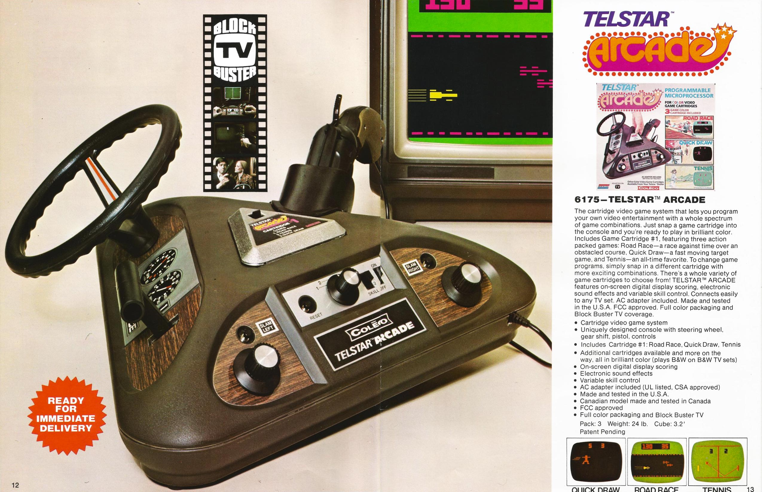 Telstar Arcade, a PONG-like video game console by Coleco