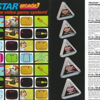 Cartridges for the Telstar Arcade, a PONG like video game console by Coleco
