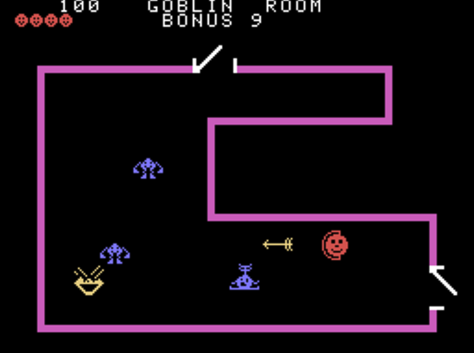 Snap of Venture, a home video game for the ColecoVision 1982