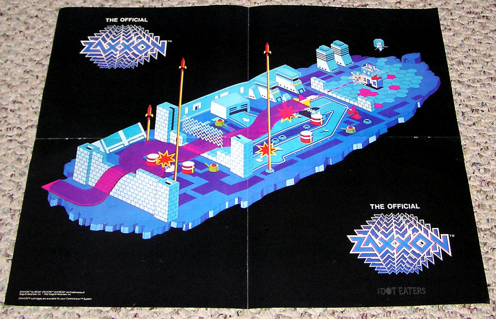 Foldout for Zaxxon, a video game for the ColecoVision