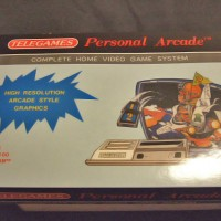 Box for the Personal Arcade/Dina, a home video game system by Telegames 1985