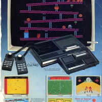 Sears catalog ad for ColecoVision, a home video game system by Coleco 1982