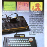 1983 ad for CompuMate, a keyboard add-on for the Atari 2600 home video game console