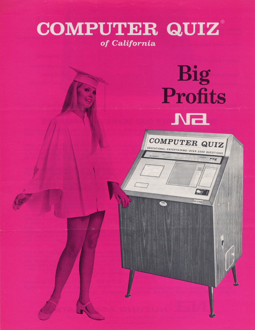 Computer Quiz, an arcade trivia game by Nutting Associates