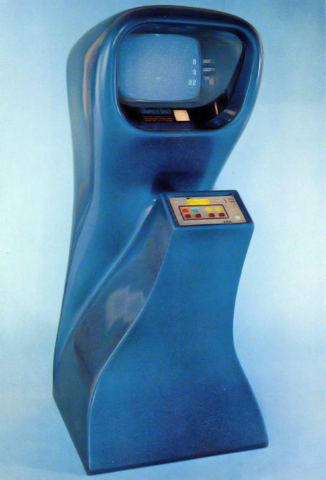Computer Space, an arcade video game by Syzygy/Nutting Associates 1971