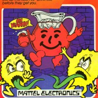 Ad for Kool Aid Man, a home video game for Mattel's Intellivision, 1983