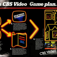 Trade advertisement for CBS Video Games, a home video game company, 1982