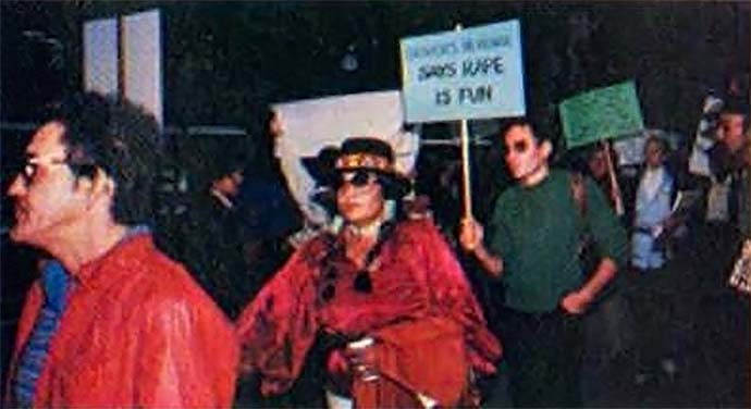 Protestors against x-rated video game Custer's Revenge, for the Atari 2600 video game console