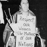 Women protesting Custer's Revenge and other porno games for the Atari 2600 video game console