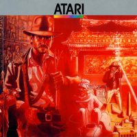 Artwork from Raiders of the Lost Ark, a video game for the Atari 2600, 1982