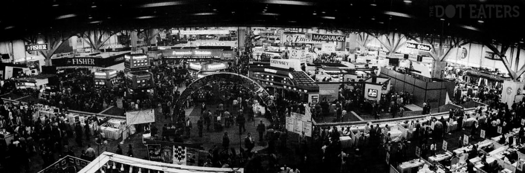 Image of the show floor from the 1983 Winter Consumer Electronics Show (CES)