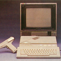 The Atari XE, a home video game console by Atari 1986