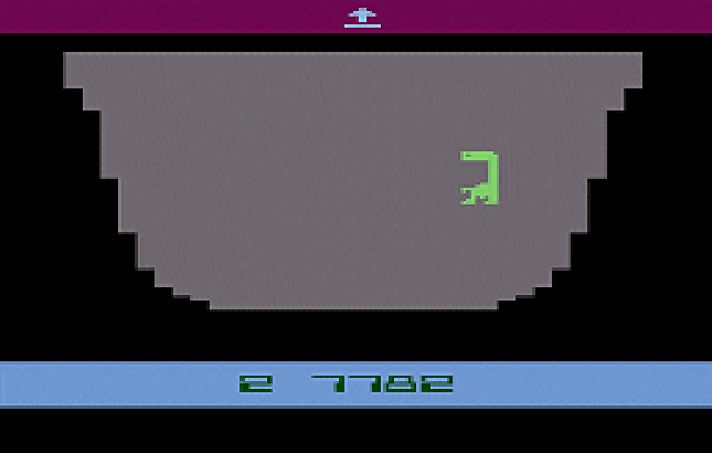 Snap of E.T. The Extra-Terrestrial, a video game for the Atari VCS/2600 1982