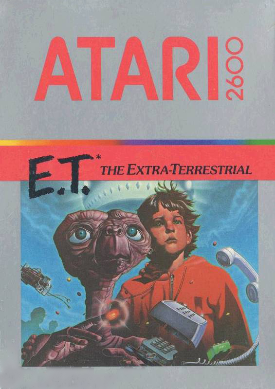 Box art for E.T. The Extra-Terrestrial, a video game for the Atari VCS/2600 1982