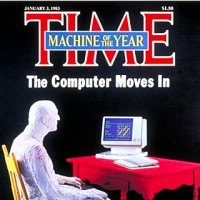 "Time magazine cover featuring the home computer as ""Machine of the Year"" 1983"
