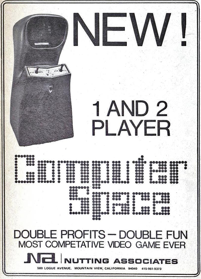 Flyer for Computer Space, an arcade video game by Nutting Associates