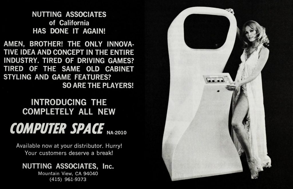 Computer Space, an arcade video game by Nutting Associates