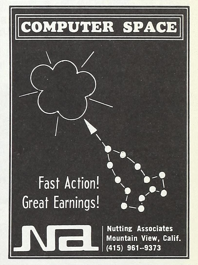Ad for Computer Space, the first commercially sold video game