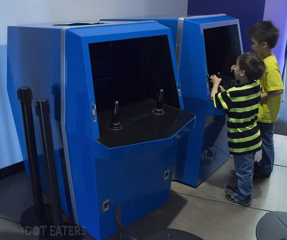 Two young lads play Galaxy Game, a coin-op video game by Computer Recreations, 1971