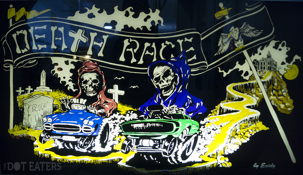Marquee for Death Race, an arcade video game by Exidy 1976