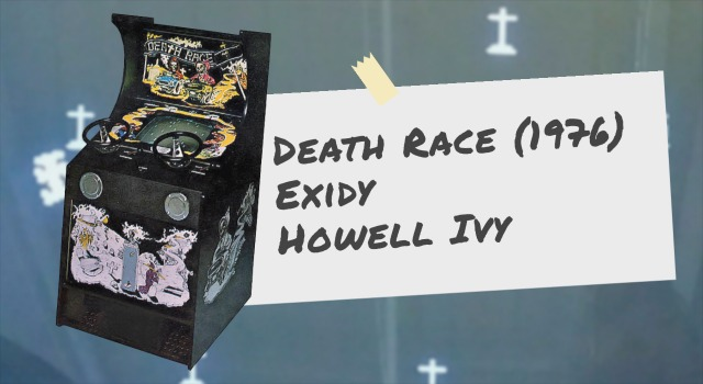 Death Race arcade video game and screen