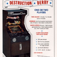 Flyer for Destruction Derby, an arcade video game by Exidy 1975
