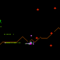 Screenshot of Defender, an arcade video game by Williams 1980