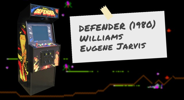 The Defender arcade video game, by Williams