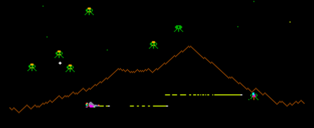 Defender, an arcade video game by Williams 1980
