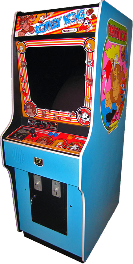 Cabinet for Donkey Kong, an arcade video game by Nintendo 1981