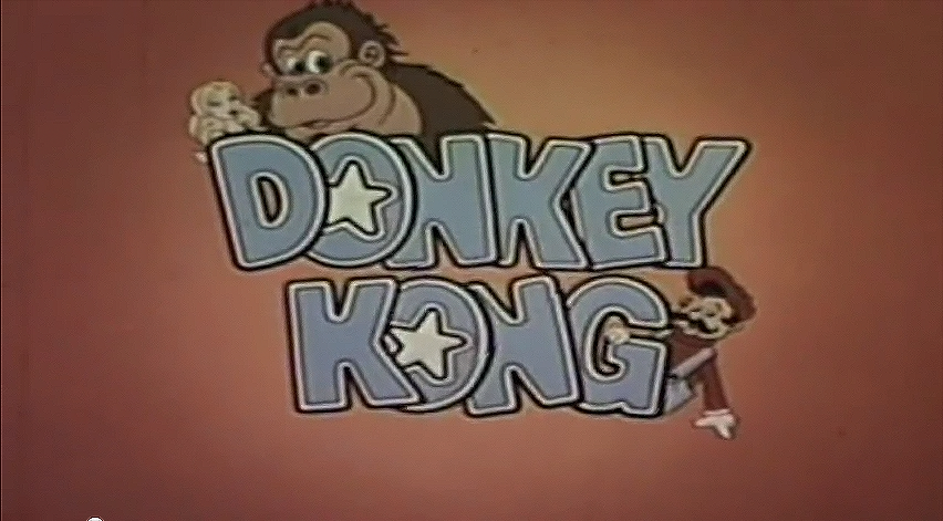 Title screen for Donkey Kong segment of Saturday Supercade, a video game themed TV show