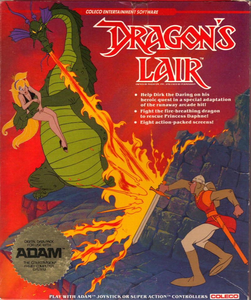 Don Bluth's Dragon's Lair, a video game for the Coleco ADAM computer
