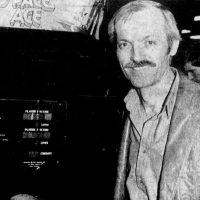 Animator Don Bluth with Space Ace, an arcade video game by Magicom