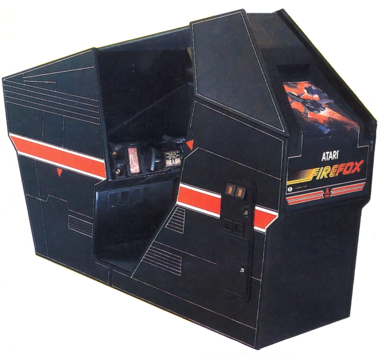 Cabinet for Firefox, a laser arcade game by Atari