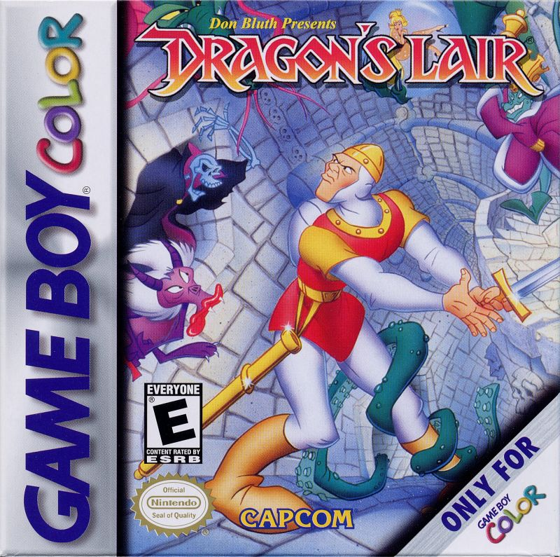 Dragon's Lair, a video game for the Game Boy handheld video game console