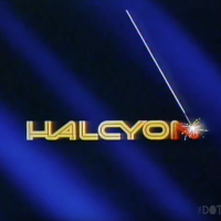 Logo for Halcyon, a home laserdisc video game by Rick Dyer, 1984