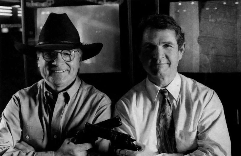 Stan Jarocki and Bob Grebe of American Laser Games, an arcade video game maker