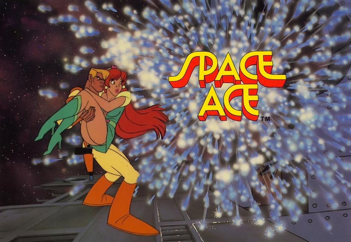 Promo shot for Space Ace, a laserdisc arcade game by Don Bluth