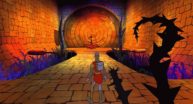 A still from Dragon's Lair 3D: Return to the Lair, a video game by Dragonstone/Blue Byte 2002
