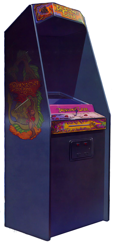 Cabinet for Dragon's Lair, an arcade laserdisc video game by Starcom/Cinematronics 1983