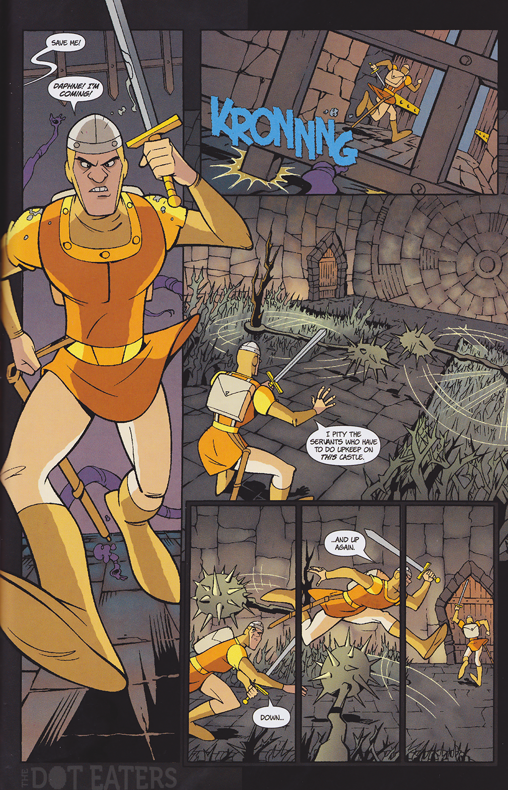Page from Dragon's Lair comic, Arcana 2008