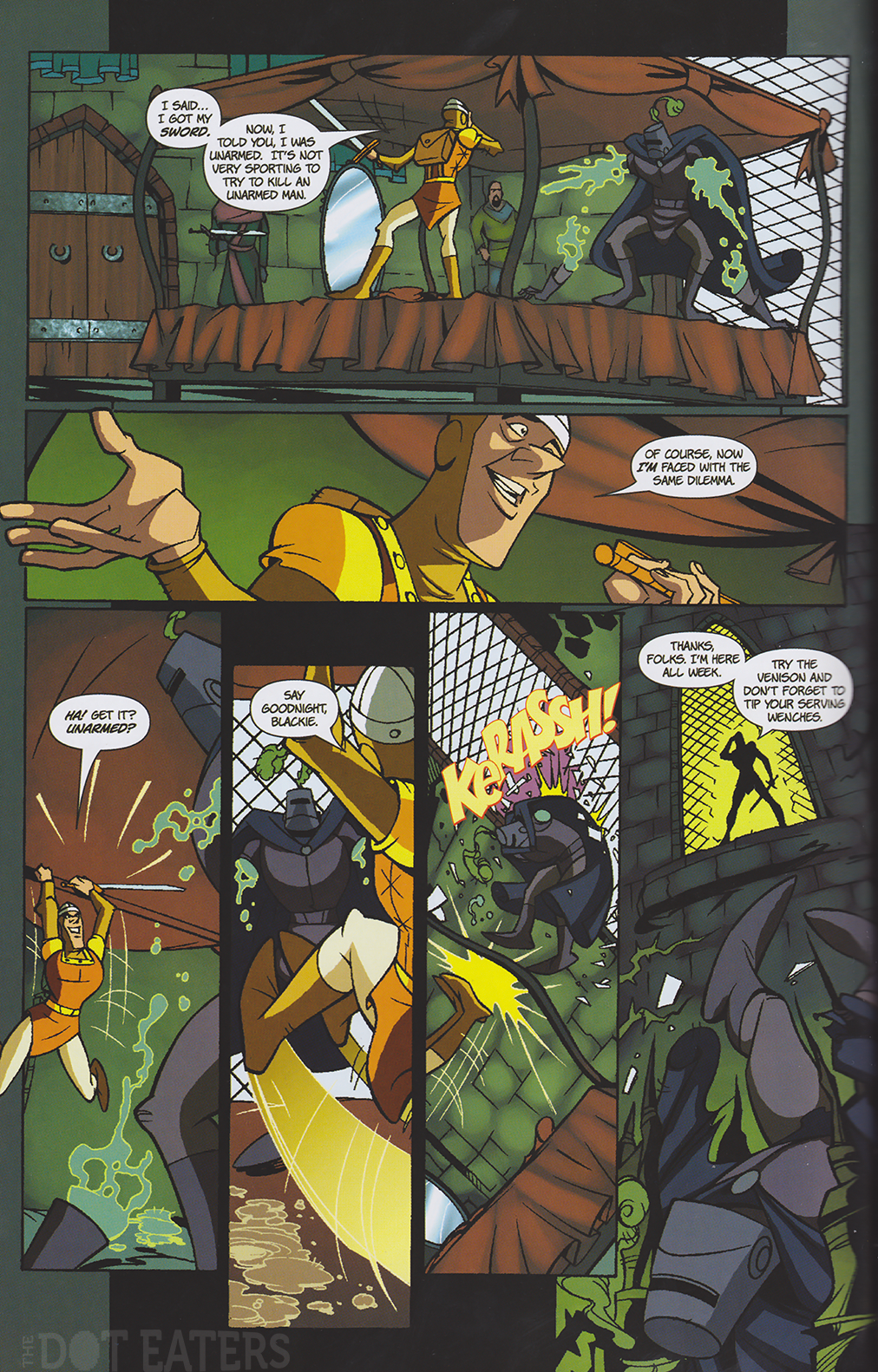 Page from the Dragon's Lair comic, Arcana 2008