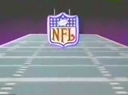 Still from NHL Football on Halcyon, a home laserdisc video game system from RDI