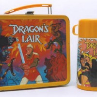 Lunch box tie-in for Dragon's Lair, an arcade laserdisc video game by Starcom/Cinematronics 1983