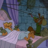 Still from Robin Hood, featuring Don Bluth as an animator, Disney 1973