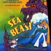 Promo sheet for The Sea Beast and Barnacle Bill, a proposed arcade laserdisc video game by Bluth Animation 1984