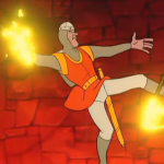 A screenshot from Dragon's Lair