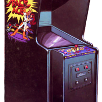 Cabinet for Space Ace, an arcade laserdisc video game by RDI/Magicom