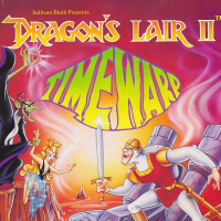 Box art for Dragons Lair II: Time Warp, a video game for the Amiga by ReadySoft 1991