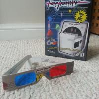 DVD box and 3D glasses for Time Traveler, a DVD game by Sega/Digital Liesure 2000